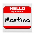 Hello my name is Martina Tile Coaster