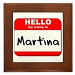Hello my name is Martina Framed Tile