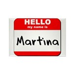 Hello my name is Martina Rectangle Magnet (10 pack