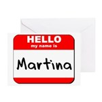 Hello my name is Martina Greeting Cards (Pk of 20)