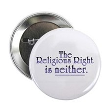 "Religious Right is Neither 2.25"" Button (100 pack)"