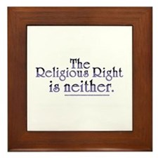 Religious Right is Neither Framed Tile
