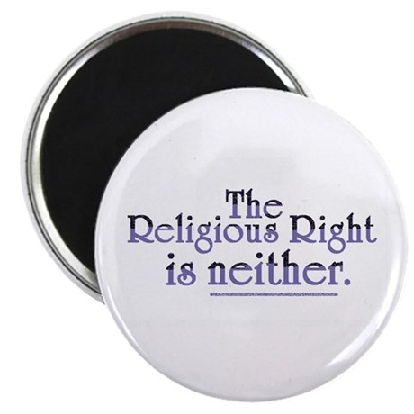 """Religious Right is Neither 2.25"""" Magnet (100 pack)"""