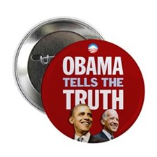 """Obama Tells Truth Red 2.25"""" Button (100 pack)"""