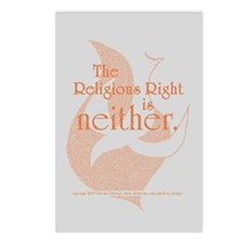 Religious Right is Neither Postcards (Package of 8