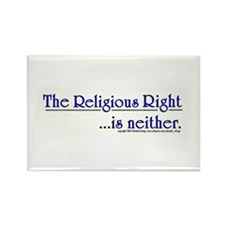 Religious Right is Neither Rectangle Magnet