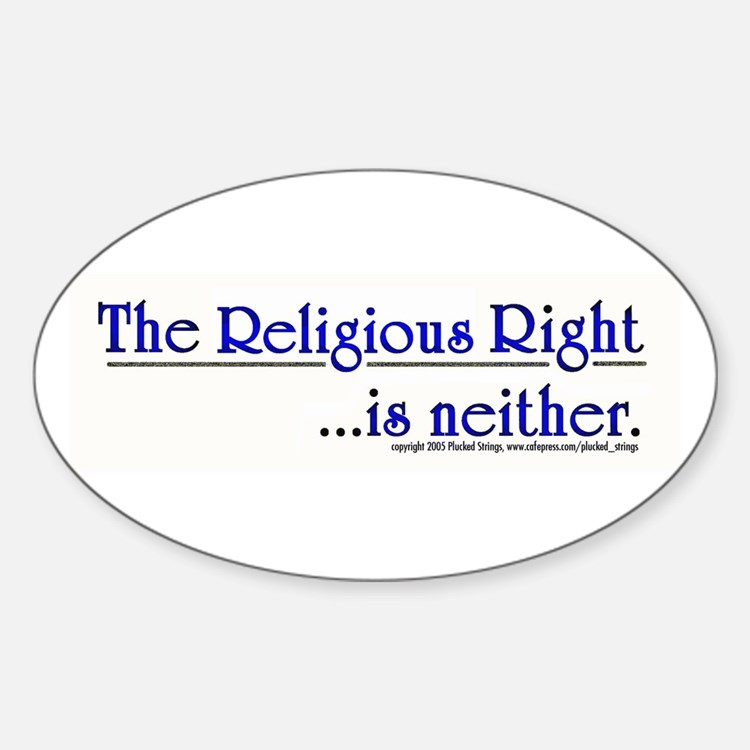 Religious Right is Neither Oval Decal