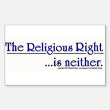 Religious Right is Neither Rectangle Decal