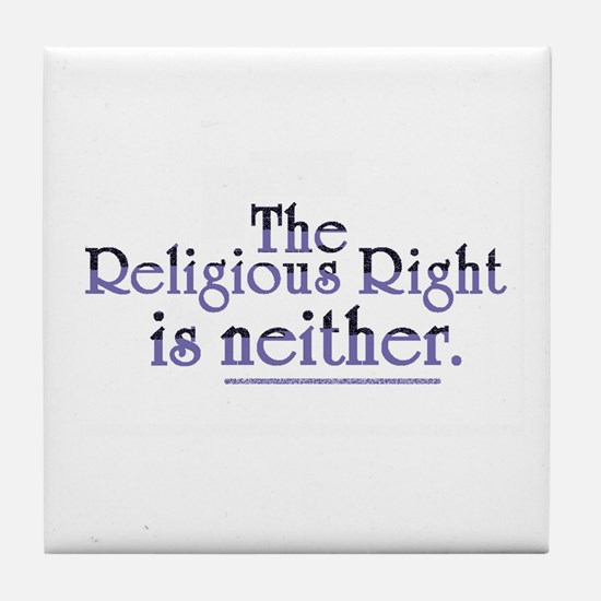 Religious Right is Neither Tile Coaster