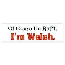 I'm Welsh Bumper Bumper Sticker