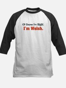 I'm Welsh Kids Baseball Jersey