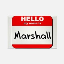 Hello my name is Marshall Rectangle Magnet