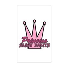 Princess Sassy Pants Rectangle Decal