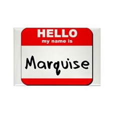 Hello my name is Marquise Rectangle Magnet