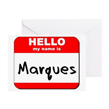 Hello my name is Marques Greeting Cards (Pk of 10)
