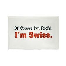 I'm Swiss Rectangle Magnet