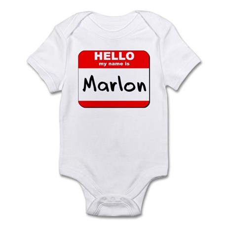 Hello my name is Marlon Infant Bodysuit