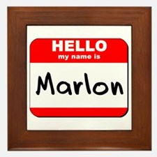 Hello my name is Marlon Framed Tile