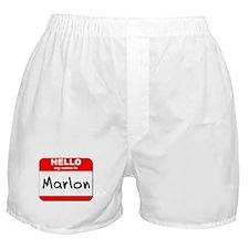 Hello my name is Marlon Boxer Shorts