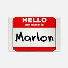 Hello my name is Marlon Rectangle Magnet