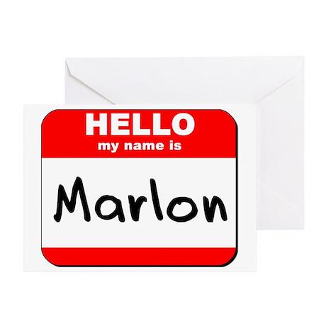 Hello my name is Marlon Greeting Card