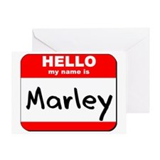 Hello my name is Marley Greeting Card