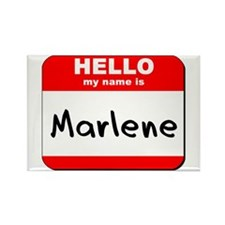 Hello my name is Marlene Rectangle Magnet