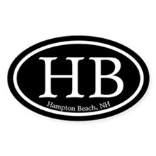 Hampton Beach HB Euro Oval Oval Decal
