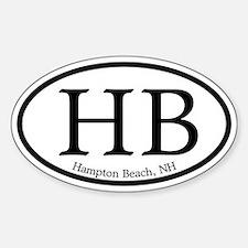 Hampton Beach HB Euro Oval Oval Decal