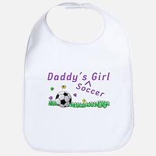 Daddy's Soccer Girl Bib