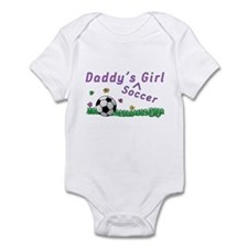 Daddy's Soccer Girl Infant Bodysuit