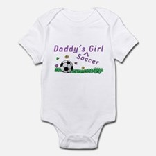 Daddy's Soccer Girl Infant Bodysuit