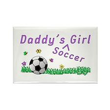 Daddy's Soccer Girl Rectangle Magnet