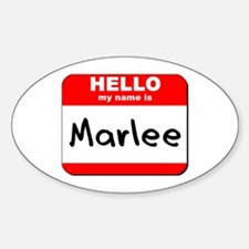 Hello my name is Marlee Oval Decal