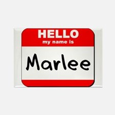 Hello my name is Marlee Rectangle Magnet