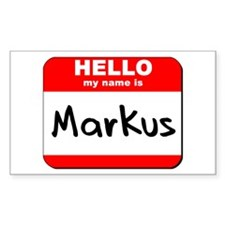 Hello my name is Markus Rectangle Decal
