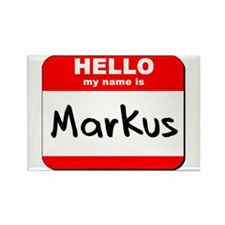 Hello my name is Markus Rectangle Magnet