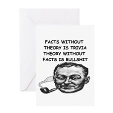 facts & theory Greeting Card