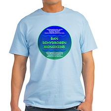 Funny Ban Dihydrogen Monoxide H20 T-Shirt