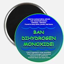 "Funny Ban Dihydrogen Monoxide H20 2.25"" Magnet (10"