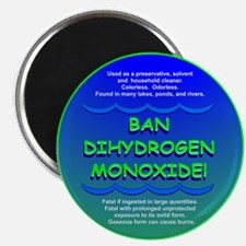 Funny Ban Dihydrogen Monoxide H20 Magnet