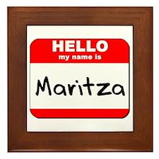 Hello my name is Maritza Framed Tile