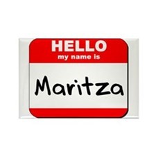 Hello my name is Maritza Rectangle Magnet