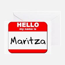 Hello my name is Maritza Greeting Card