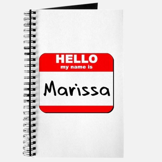 Hello my name is Marissa Journal