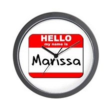 Hello my name is Marissa Wall Clock