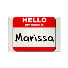 Hello my name is Marissa Rectangle Magnet
