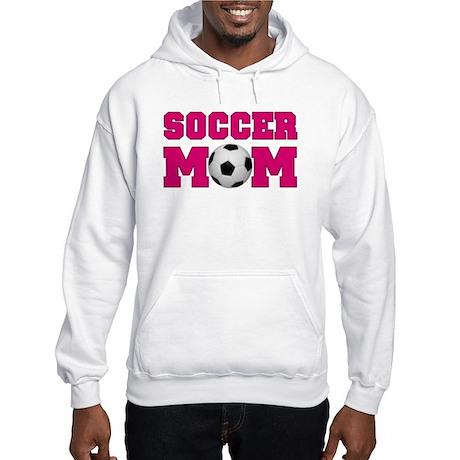Soccer Mom - Hot Pink Hooded Sweatshirt