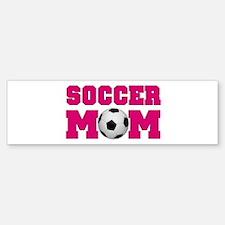 Soccer Mom - Hot Pink Bumper Bumper Bumper Sticker