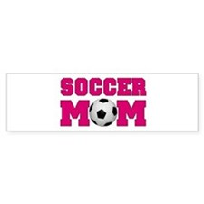 Soccer Mom - Hot Pink Bumper Bumper Sticker